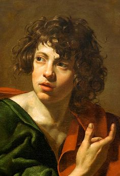caravaggista: simonerein: Simon Vouet - St. John - 1634 I can't get over this painting. I keep thinking about it and for some reason I keep comparing it in my mind to Salomon de Bray's David from the Getty collection.