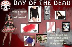 See how to get inspired for Halloween. Here's an idea for Day of the Dead featuring styles such as K284, 7797, P1081, A66, 198!