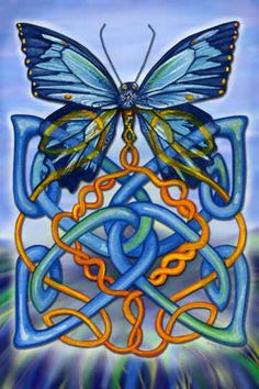 Butterfly, Celtic art. This would make a beautiful tattoo.