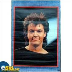 Paul Young. Poster spiky hairstyle 1980s RARE