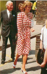July 21,1989: Princess Diana at the Royal Art College Fashion Show in London.