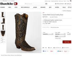 TannerMark Boots at the Buckle.com