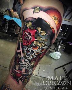 Rest in Paradise. Tattoo by @mattcurzon at @empiremelbourne in Melbourne Australia #mattcurzon #empiremelbourne #melbourne #australia #reaper #reapertattoo #grimreaper #grimreapertattoo #restinparadise #tattoo #tattoos #tattoosnob