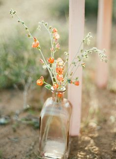 #Peach #wedding color palette inspiration- #rustic #flowers. See the post at http://tulleandtwine.com/2013/11/19/feeling-peachy