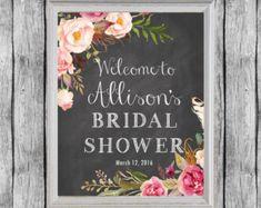 Bridal Shower Welcome Sign. Bridal Shower Door Decoration.
