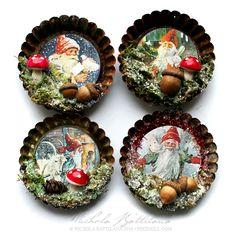 Gnome Tart Tin Ornaments - Nichola Battilana, DIY and Crafts, Gnome Tart Tin Ornaments - Nichola Battilana.