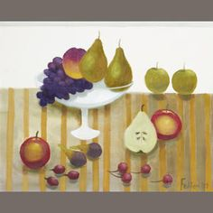 View Fruit By Mary Fedden; oil on canvas; Access more artwork lots and estimated & realized auction prices on MutualArt. Frozen In Time, Painting & Drawing, Still Life, Oil On Canvas, Mary, Fruit, Drawings, Creative, Artwork