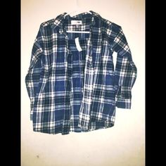 Flannel Shirt with Boyfriend Fit L(10-12) Cozy flannel shirt Old Navy Tops Button Down Shirts