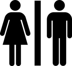 little boys girls restroom bathroom door sign custom vinyl decal rh pinterest com restroom pass clipart ladies restroom clip art