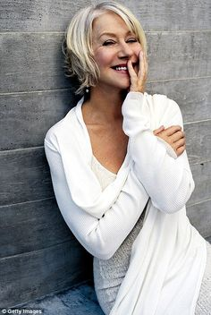 Helen Mirren - how to wear white with gray hair