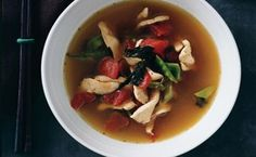 Thai-Style Chicken Soup with Basil Thai-Style Chicken Soup with Basil Related posts: Thai chicken soup with basil and lime Mexican Caldo de Pollo Or Chicken Soup Mexican Style Tuscan Style Chicken Soup InstantPot Greek-Style Lemon Chicken Soup – Basil Recipes, Thai Recipes, Dinner Recipes, Primal Recipes, Yummy Recipes, Healthy Recipes, Cooking Tips, Cooking Recipes, Thai Curry Paste