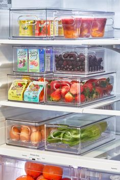 After months and months of keeping it a secret, the day is finally here! Our NEW Kitchen Collection with iDesign is NOW available for sale, exclusively at The Container Store! Refrigerator Organization, Kitchen Organization Pantry, Kitchen Pantry, New Kitchen, Kitchen Decor, The Refrigerator, Healthy Fridge, Small Fridges, The Home Edit