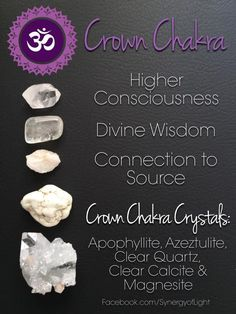 CROWN CHAKRA CRYSTALS - - loved & pinned by www.omved.com