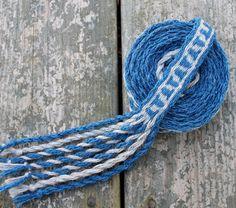 Tablet Weaving Card Weaving Medieval Trim Blue Grey by inkleing, $45.00