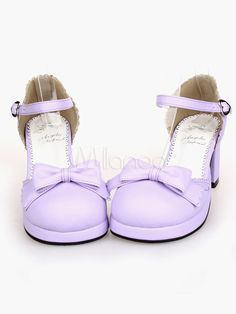e593bfa8b999 Sweet Loilta Sandals Heels Shoes Ankle Strap Buckle Bow Decor. Kawaii  ShoesLolita ...
