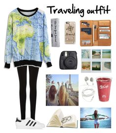 """Traveling Outfit ✈ Follow back!"" by anadoribeljimenez ❤ liked on Polyvore featuring Polaroid, Oasis, adidas Originals, Fuji, Casetify and Kate Spade"