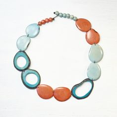 Tagua Statement Necklace - Handcrafted in Ecuador from tagua nuts, an eco- and animal-friendly alternative to ivory. - Dogwood Hill Gifts