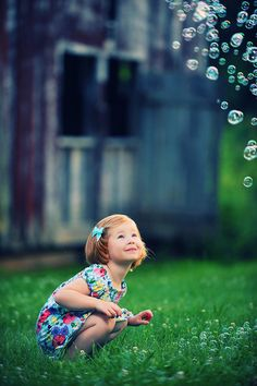 Bubbles - plus I can only hope that we have a little red head like this some day!! So cute!!