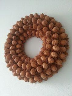 Krans van walnoten
