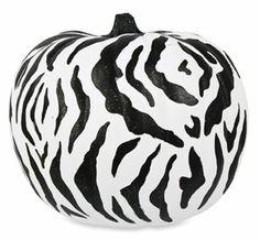 Zebra Print #Pumpkin by Americana® #MichaelsStores Wild #Halloween