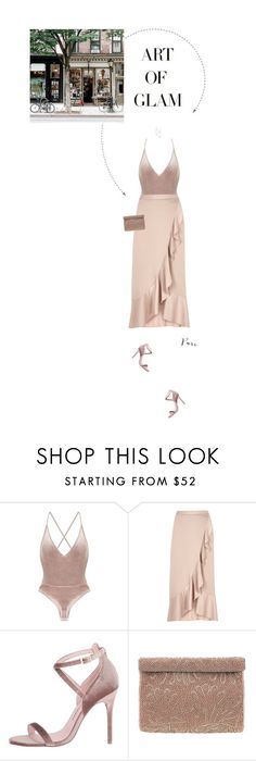 """Light Pink/Nude Outfit."" by xabbielou ❤ liked on Polyvore featuring River Island, Chinese Laundry, Nina, Argento Vivo and GET LOST"