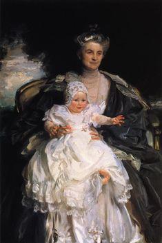 """""""Mrs. Henry Phipps and Her Granson Winston"""" (1907) John Singer Sargent"""