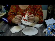 (35) Часть 1. Мастер-класс Елены Васько: Снегурочка на елку из ваты. - YouTube Christmas Diy, Christmas Decorations, Holiday Decor, Craft Materials, Sculpting, Diy And Crafts, Shabby Chic, Printables, Handmade
