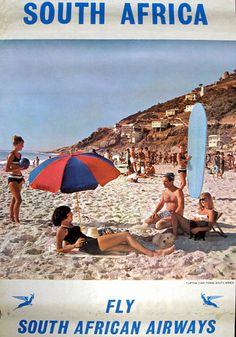 SAA brocure from the Cape Town South Africa, Black History Facts, Vintage Travel Posters, Africa Travel, Tourism, Nostalgia, Landscape, Aircraft, City