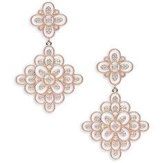 Saks Fifth Avenue Women's Crystal Chandelier Earrings (320 DKK) ❤ liked on Polyvore featuring jewelry, earrings, no color, crystal chandelier earrings, earring jewelry, crystal earrings, saks fifth avenue jewelry and rose stud earrings