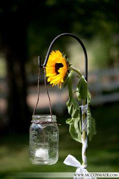 sunflowers and mason jars
