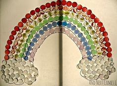 Build a colorful rainbow on the light table from And Next Comes L