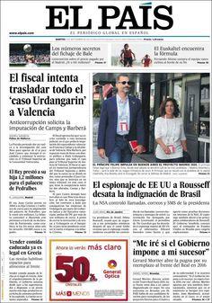 Los Titulares y Portadas de Noticias Destacadas Españolas del 3 de Septiembre de 2013 del Diario El País ¿Que le pareció esta Portada de este Diario Español?