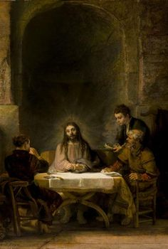 Rembrandt. The Supper at Emmaus. 1648. Oil on wood. Louvre, Paris, France.