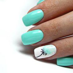 Summer Acrylic Nails, Best Acrylic Nails, Acrylic Nail Designs, Nail Art Designs, Nails Design, Summer Nails, Beach Nail Designs, Spring Nails, Awesome Nail Designs