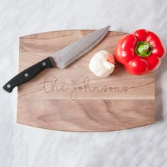 Personalized Engraved Cutting Boards - great wedding gifts!