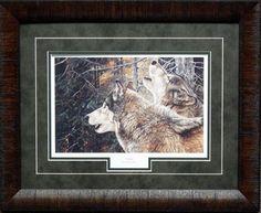 Andrew Kiss Unity Framed Wolves Print