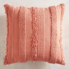 Shop for solid pillows and other decorative and throw pillows at Pier Decorate in your favorite colors including blue, yellow and white pillows today! Coral Throw Pillows, Orange Pillows, Colorful Pillows, Decorative Throw Pillows, Decorative Items, Designer Pillow, Pillow Design, Coral Dorm, Boho Cushions