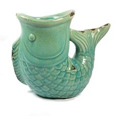 Vintage Look Fish Shaped Vase Utensil Caddy, Fish Shapes, Vintage Fishing, Birthday Gifts For Her, Kitchen Utensils, Vintage Looks, Ceramic Fish, Crock, Vase