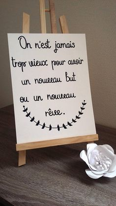 "affiche citation ""On nest jamais trop vieux"" Old Quotes, Faith Quotes, Never Too Old, Quote Citation, French Quotes, Magic Words, Quote Posters, Positive Attitude, Positive Vibes"
