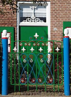 Colorful gate in Staphorst - the Netherlands, photo made by Bas Dekker