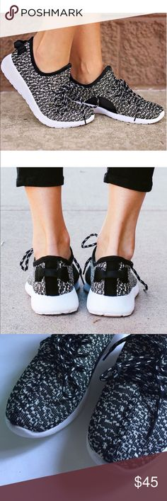 KIRBY comfy shoes - BLACK PRICE FIRM, PRICE FIRM, PRICE FIRMEasy slip on breathable comfy shoes , lace up detail. Slightly arched heel. Runs slightly big. NO TRADE, PRICE FIRM Shoes Sneakers