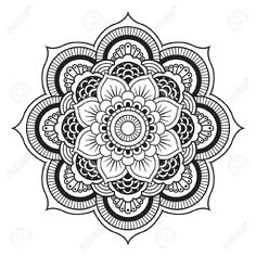 Mandala. Motif Ornement rond Vector Les Cliparts Illustration, vecteurs libres de droits. Image 12227481.