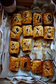 Char Siu Pork Sausage Rolls @ Not Quite Nigella Sausage Recipes, Pork Recipes, Asian Recipes, Chinese Recipes, Savory Pastry, Savoury Baking, Savoury Tarts, Savory Snacks, Lunch Snacks