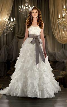 47d93f6063c4 Strapless wedding dress by Martina Liana. (Style 418) White Wedding Dresses,  Wedding