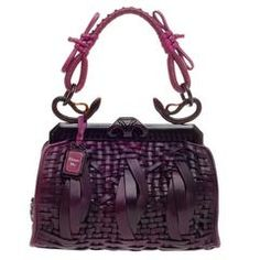 Christian Dior 1947 Samourai Bag Woven Leather Medium