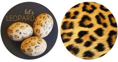 leopard print easter eggs