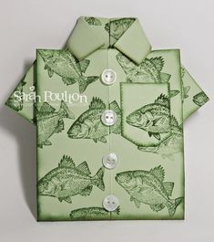 Stampin' Sarah!: By the Tide Origami Shirt Card from Stampin' Up ...