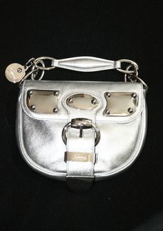 Gucci Mini Romy Runway Silver Leather & Metal Cocktail Bag. Our price, $495.00! (Retails for $1190.00!!)
