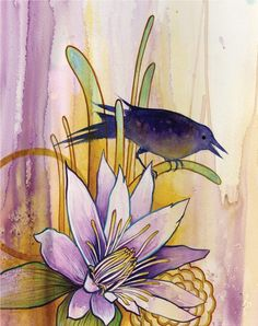 """Blackbird"" watercolor. (Painting by Britt DeMaris Leiendecker)"