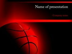A Free Powerpoint Template In Ppt With Sport Of Basketball Slam